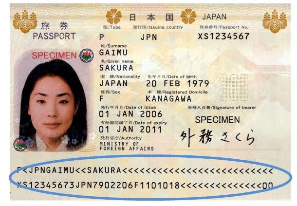 パスポートサンプル